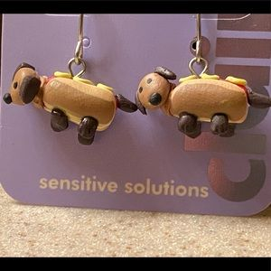Claire's Cute Hot Dog Earrings